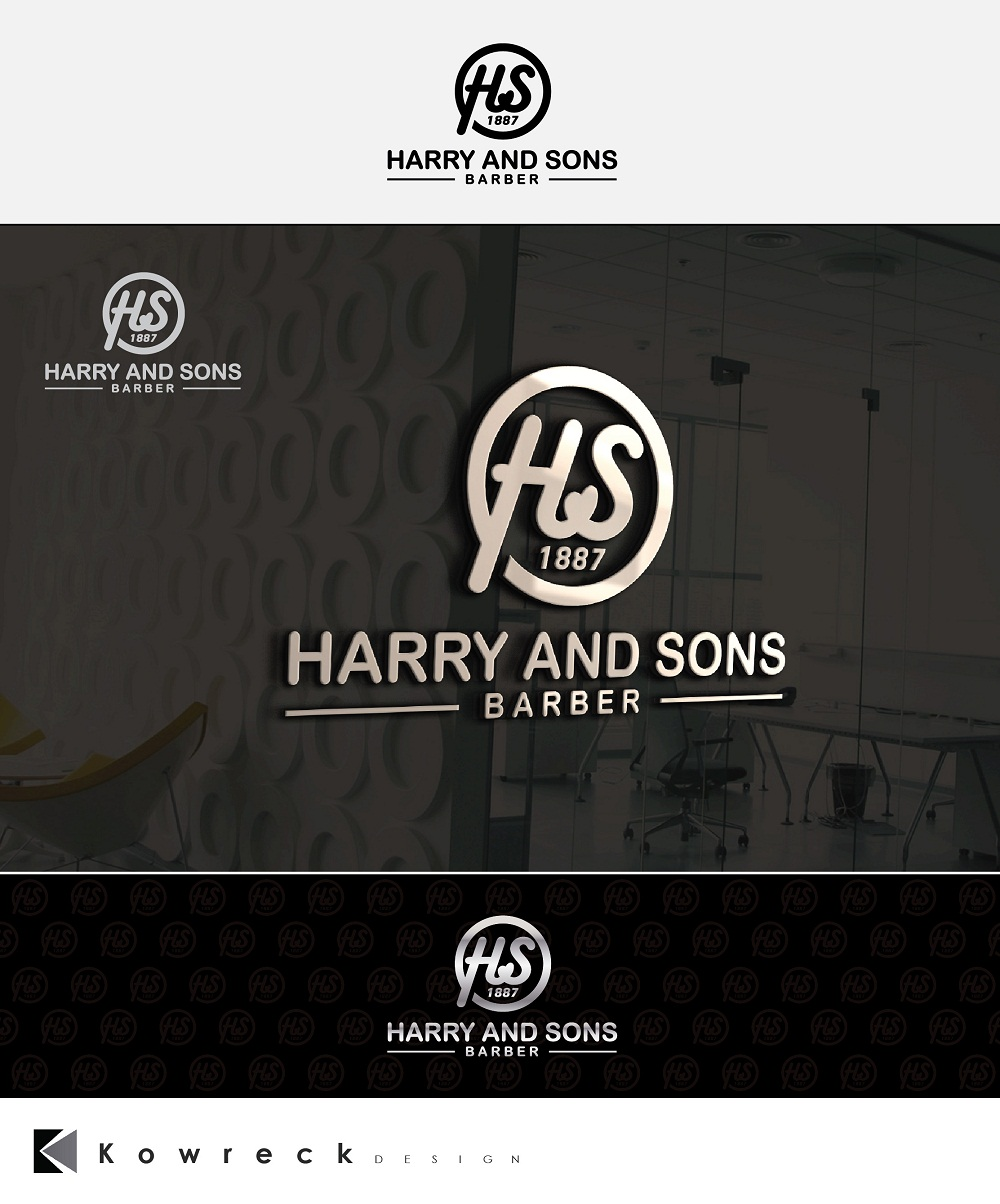 Logo Design by kowreck - Entry No. 162 in the Logo Design Contest Captivating Logo Design for Harry and Sons Barber.