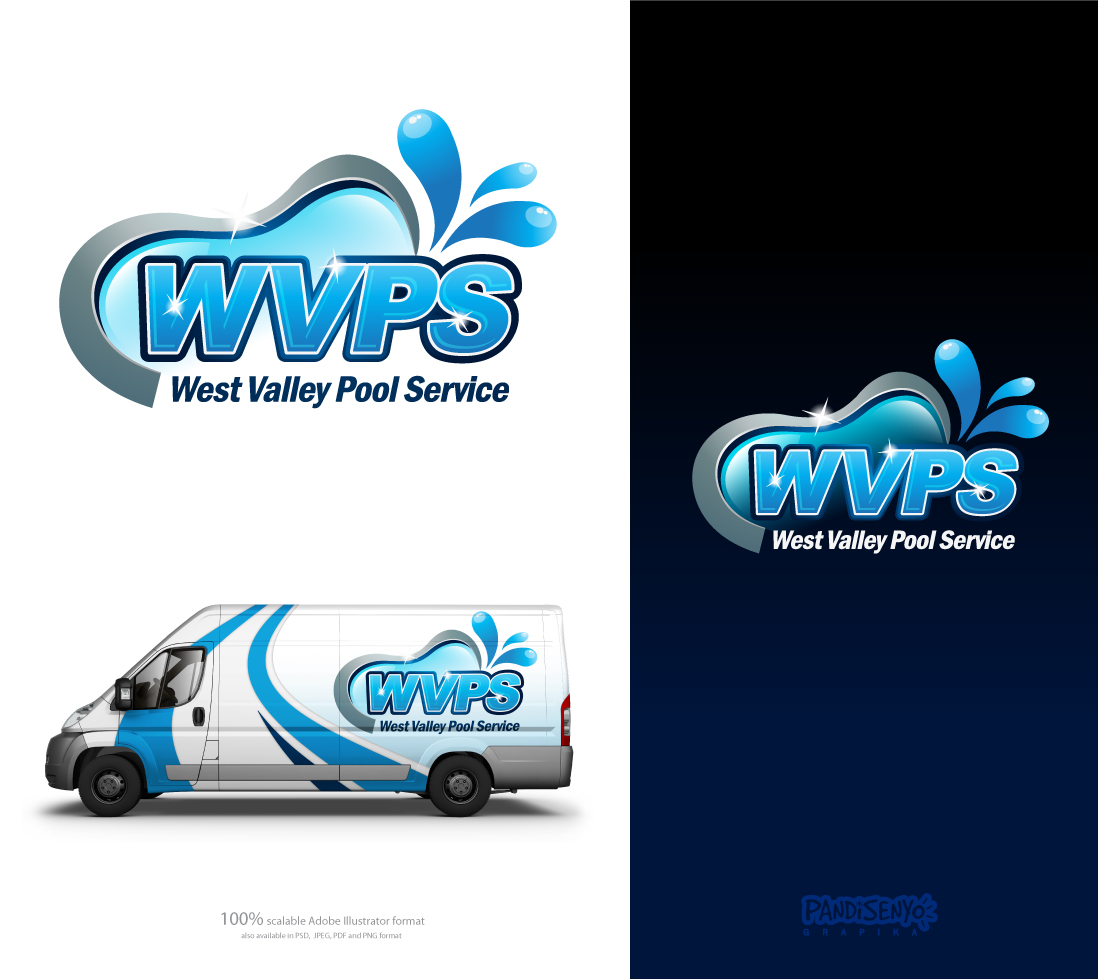 Logo Design by pandisenyo - Entry No. 117 in the Logo Design Contest Clever Logo Design for West Valley Pool Service.