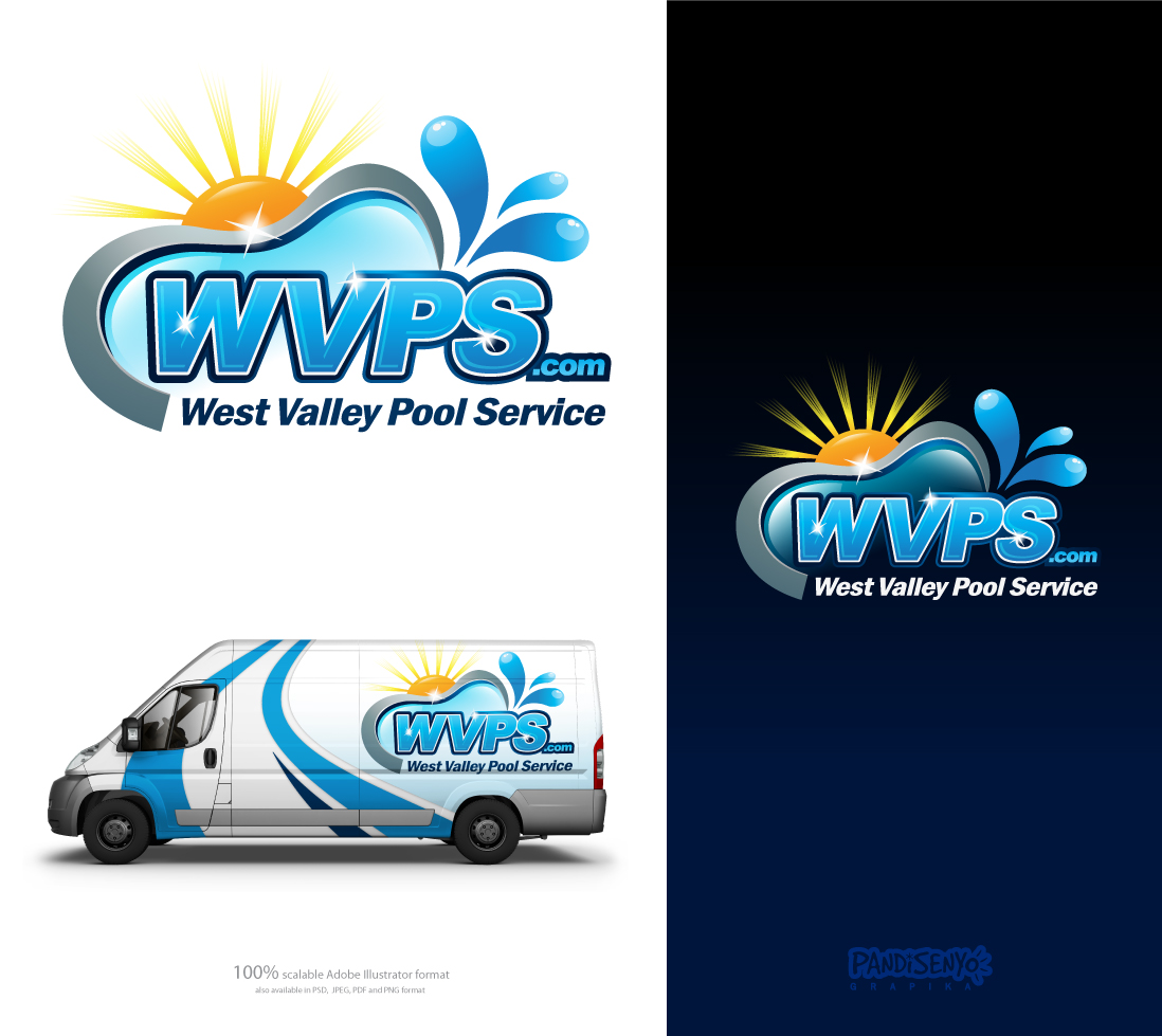 Logo Design by pandisenyo - Entry No. 121 in the Logo Design Contest Clever Logo Design for West Valley Pool Service.