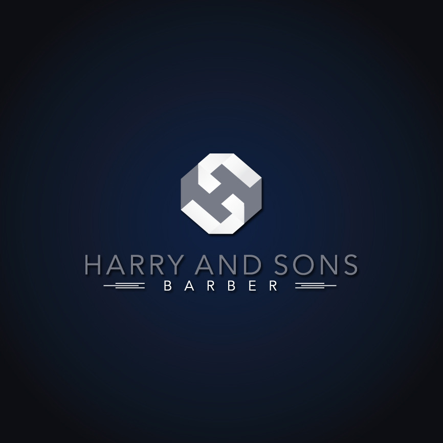 Logo Design by RasYa Muhammad Athaya - Entry No. 168 in the Logo Design Contest Captivating Logo Design for Harry and Sons Barber.