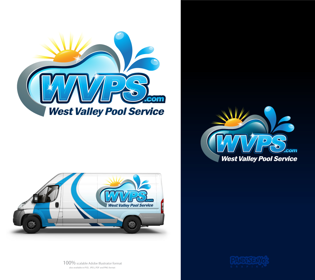 Logo Design by pandisenyo - Entry No. 122 in the Logo Design Contest Clever Logo Design for West Valley Pool Service.