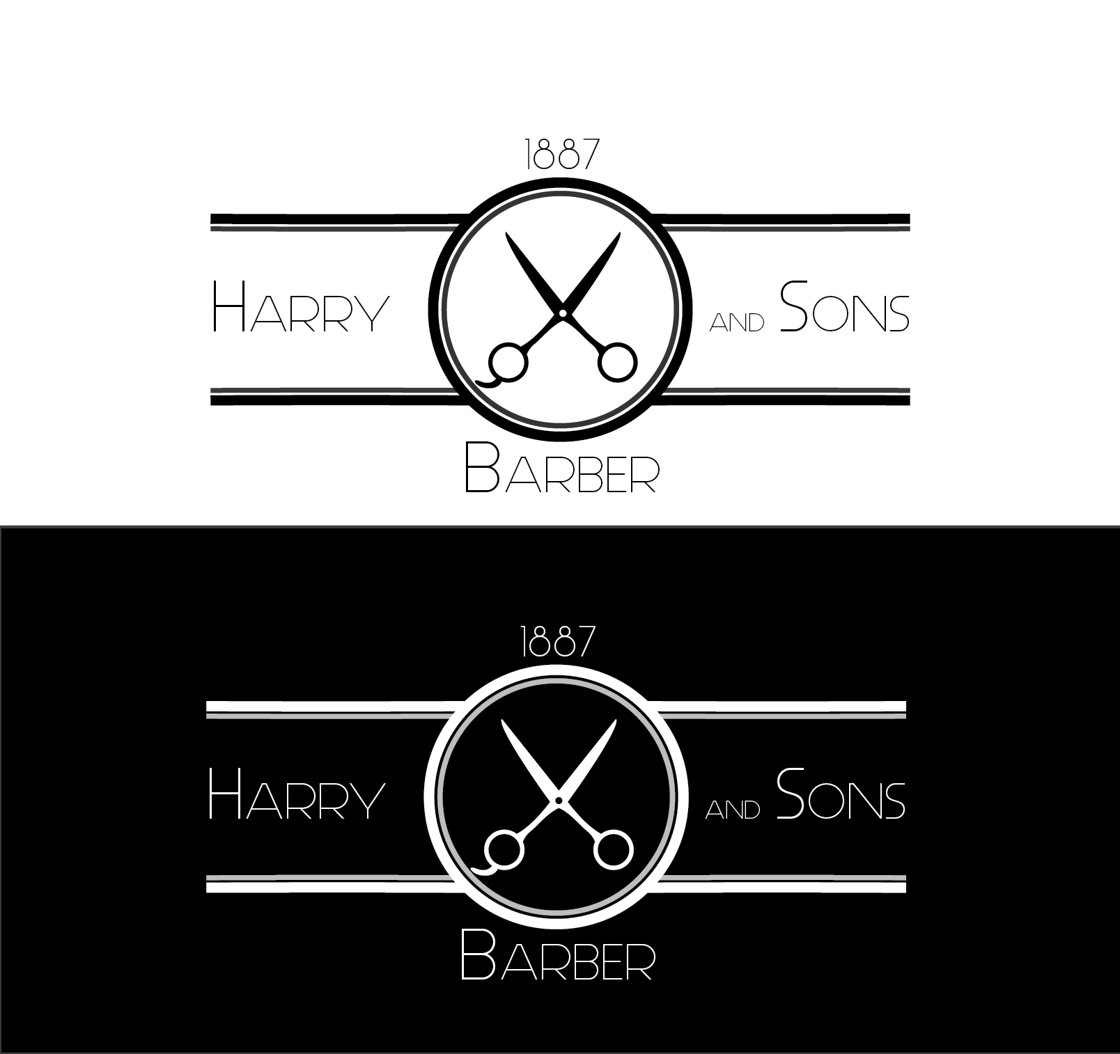 Logo Design by Ahtasham Ahmed - Entry No. 171 in the Logo Design Contest Captivating Logo Design for Harry and Sons Barber.