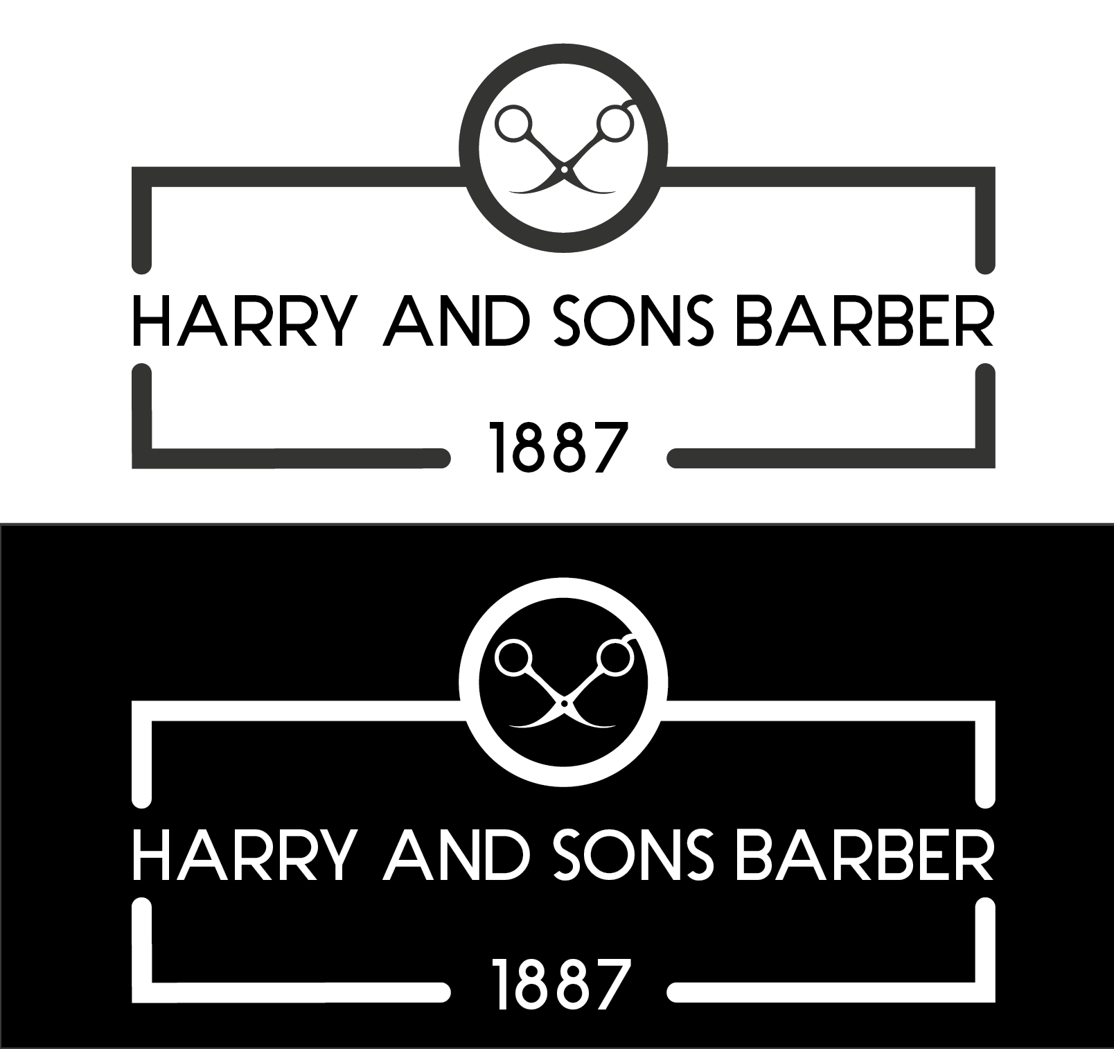 Logo Design by Ahtasham Ahmed - Entry No. 173 in the Logo Design Contest Captivating Logo Design for Harry and Sons Barber.