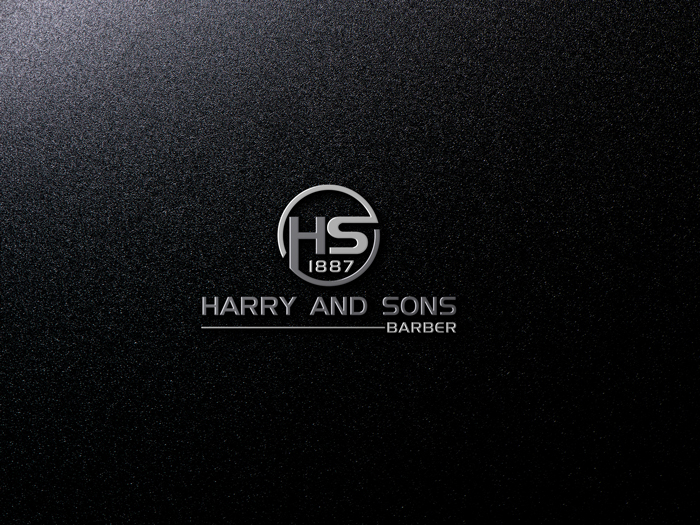 Logo Design by Mohammad azad Hossain - Entry No. 175 in the Logo Design Contest Captivating Logo Design for Harry and Sons Barber.