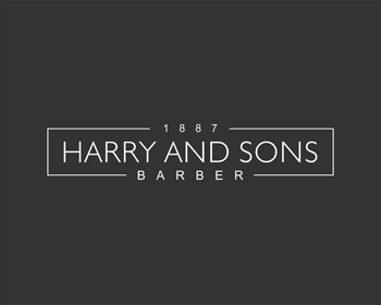 Logo Design by Rasya Malik - Entry No. 179 in the Logo Design Contest Captivating Logo Design for Harry and Sons Barber.