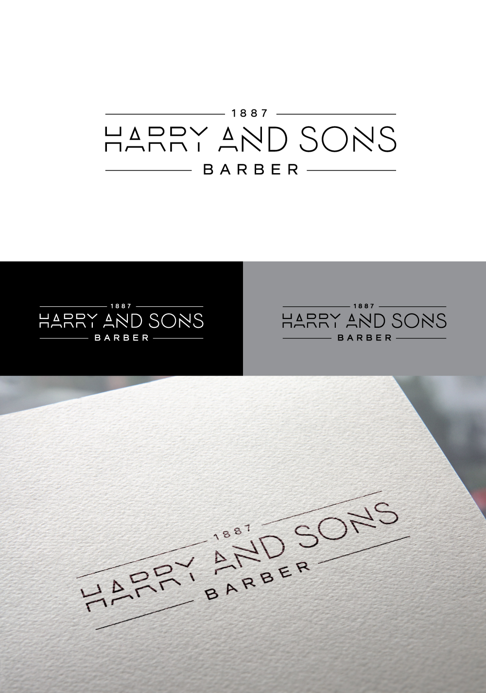Logo Design by Tauhid Shaikh - Entry No. 181 in the Logo Design Contest Captivating Logo Design for Harry and Sons Barber.