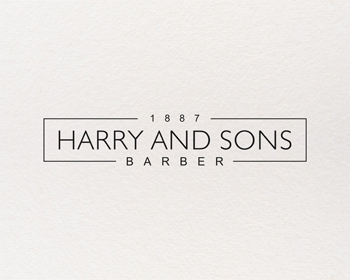 Logo Design by Rasya Malik - Entry No. 183 in the Logo Design Contest Captivating Logo Design for Harry and Sons Barber.