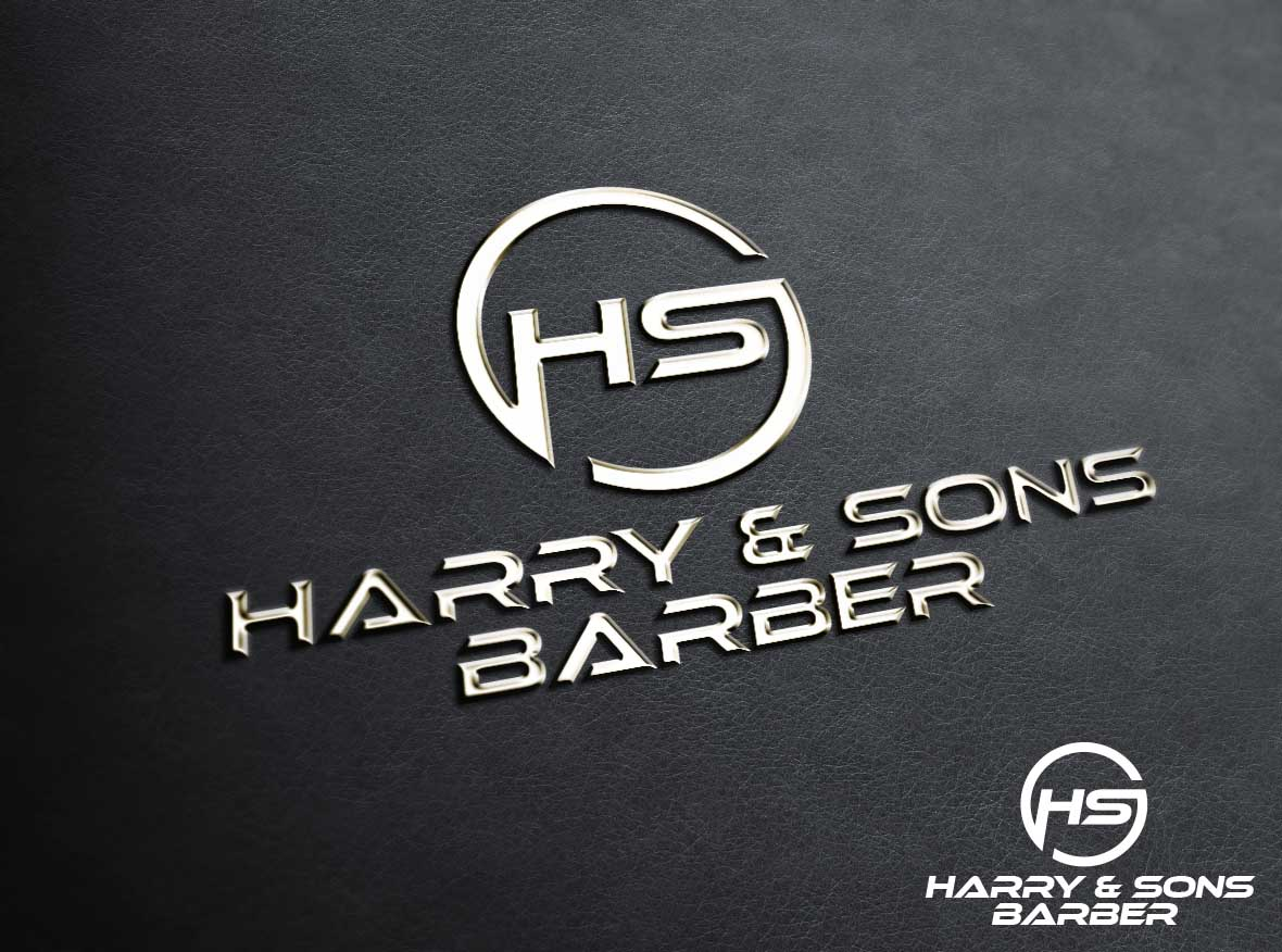 Logo Design by Private User - Entry No. 184 in the Logo Design Contest Captivating Logo Design for Harry and Sons Barber.