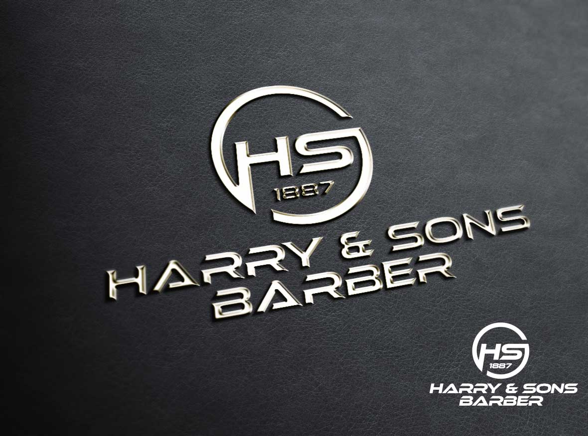 Logo Design by Private User - Entry No. 185 in the Logo Design Contest Captivating Logo Design for Harry and Sons Barber.
