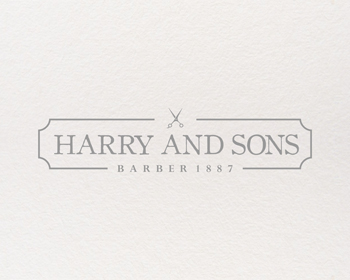 Logo Design by Rasya Malik - Entry No. 187 in the Logo Design Contest Captivating Logo Design for Harry and Sons Barber.