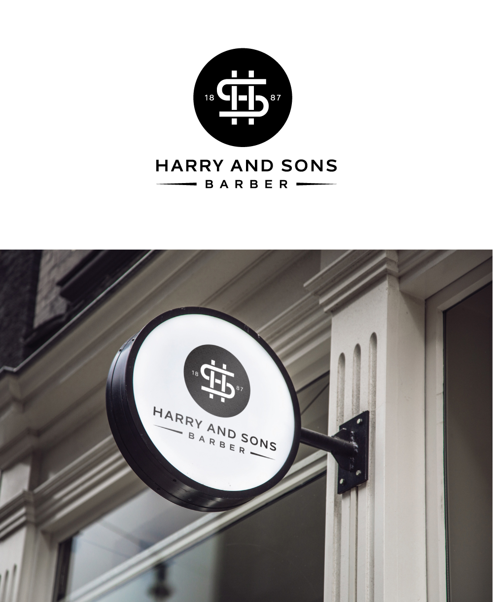 Logo Design by Tauhid Shaikh - Entry No. 191 in the Logo Design Contest Captivating Logo Design for Harry and Sons Barber.