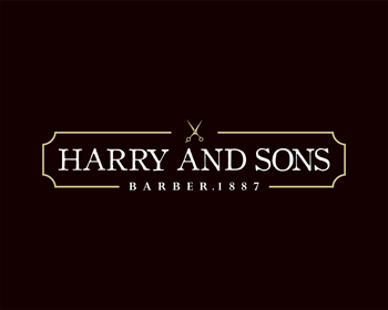 Logo Design by Rasya Malik - Entry No. 192 in the Logo Design Contest Captivating Logo Design for Harry and Sons Barber.