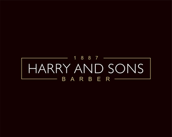 Logo Design by Rasya Malik - Entry No. 193 in the Logo Design Contest Captivating Logo Design for Harry and Sons Barber.