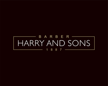 Logo Design by Rasya Malik - Entry No. 194 in the Logo Design Contest Captivating Logo Design for Harry and Sons Barber.