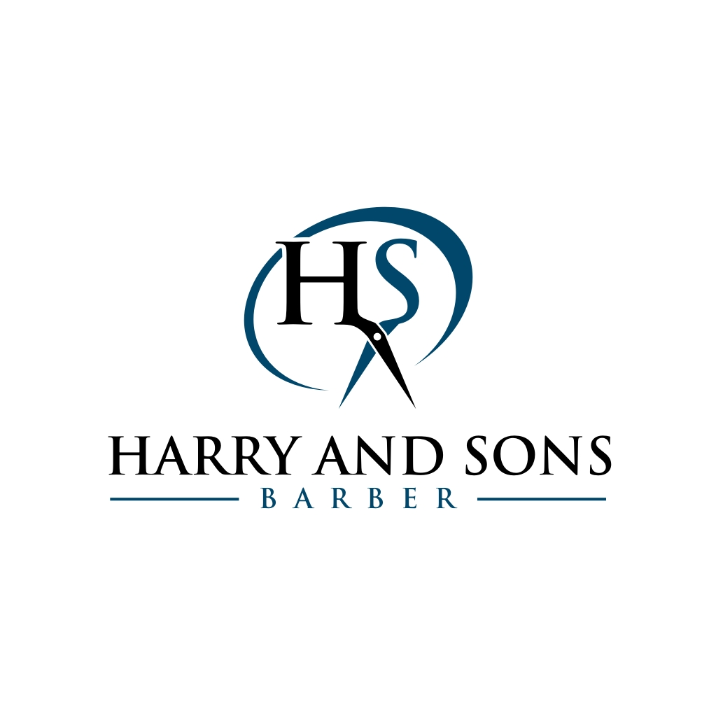 Logo Design by untung - Entry No. 195 in the Logo Design Contest Captivating Logo Design for Harry and Sons Barber.