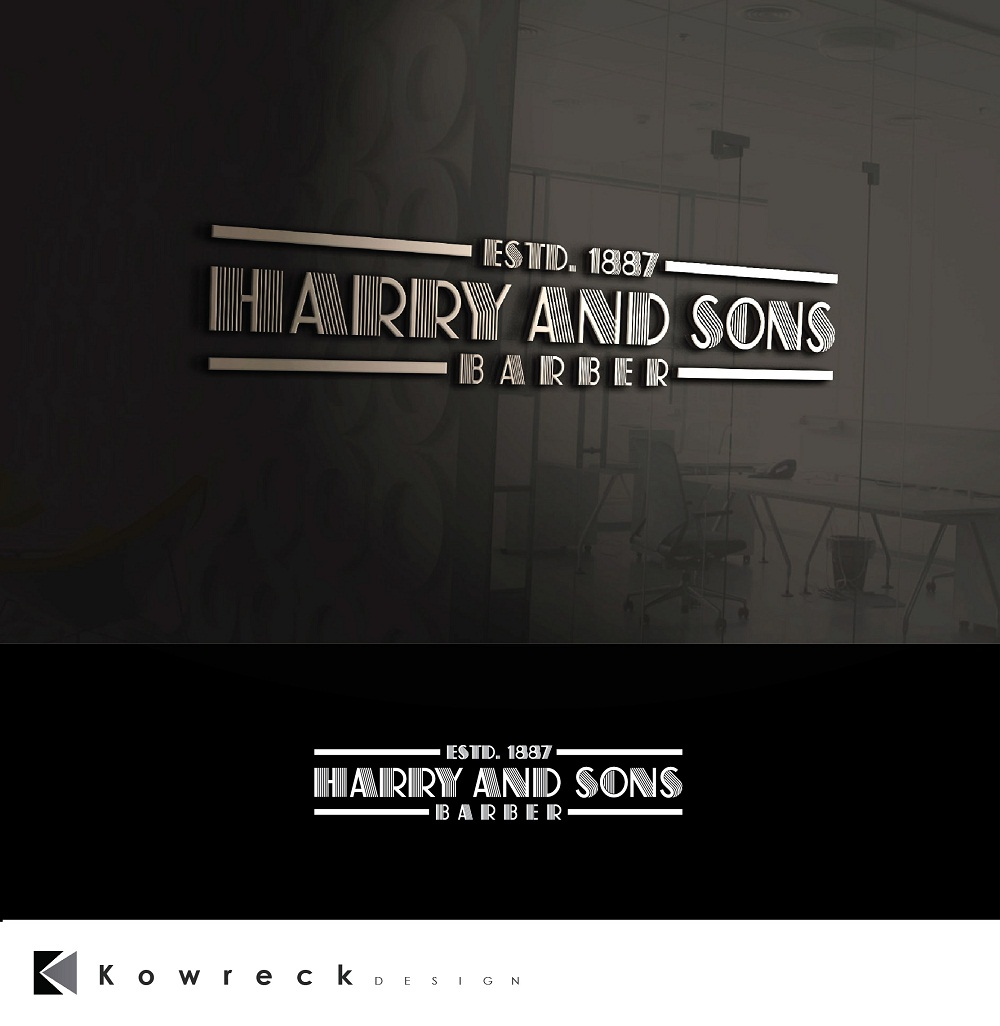 Logo Design by kowreck - Entry No. 201 in the Logo Design Contest Captivating Logo Design for Harry and Sons Barber.