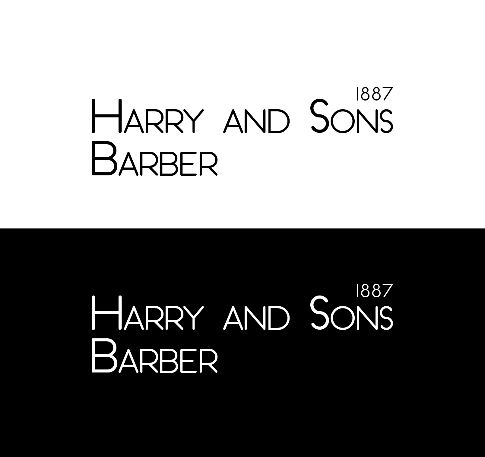 Logo Design by Ahtasham Ahmed - Entry No. 202 in the Logo Design Contest Captivating Logo Design for Harry and Sons Barber.