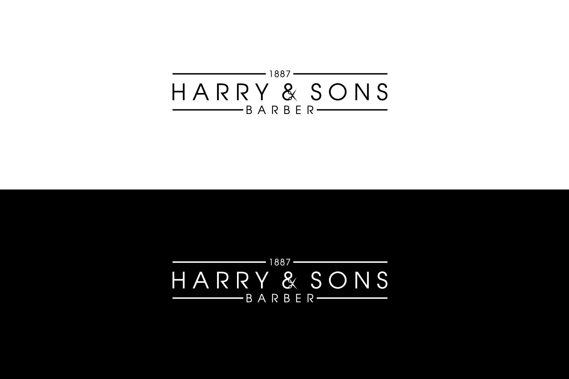 Logo Design by Shivaprasad Sangondimath - Entry No. 206 in the Logo Design Contest Captivating Logo Design for Harry and Sons Barber.
