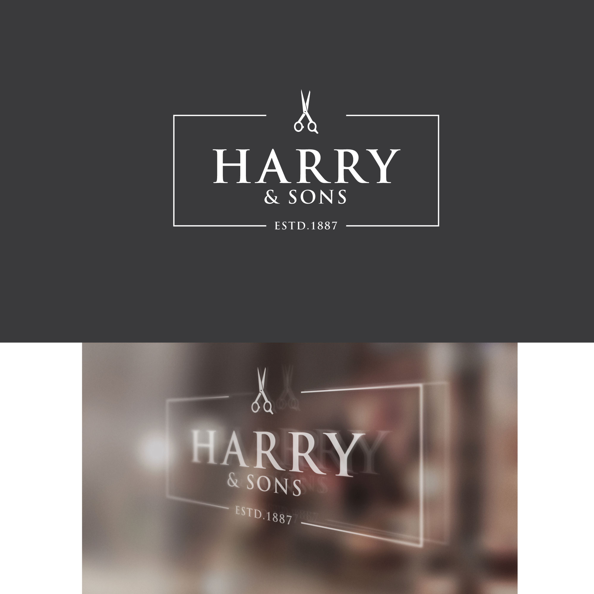 Logo Design by Roza Apostolska - Entry No. 207 in the Logo Design Contest Captivating Logo Design for Harry and Sons Barber.