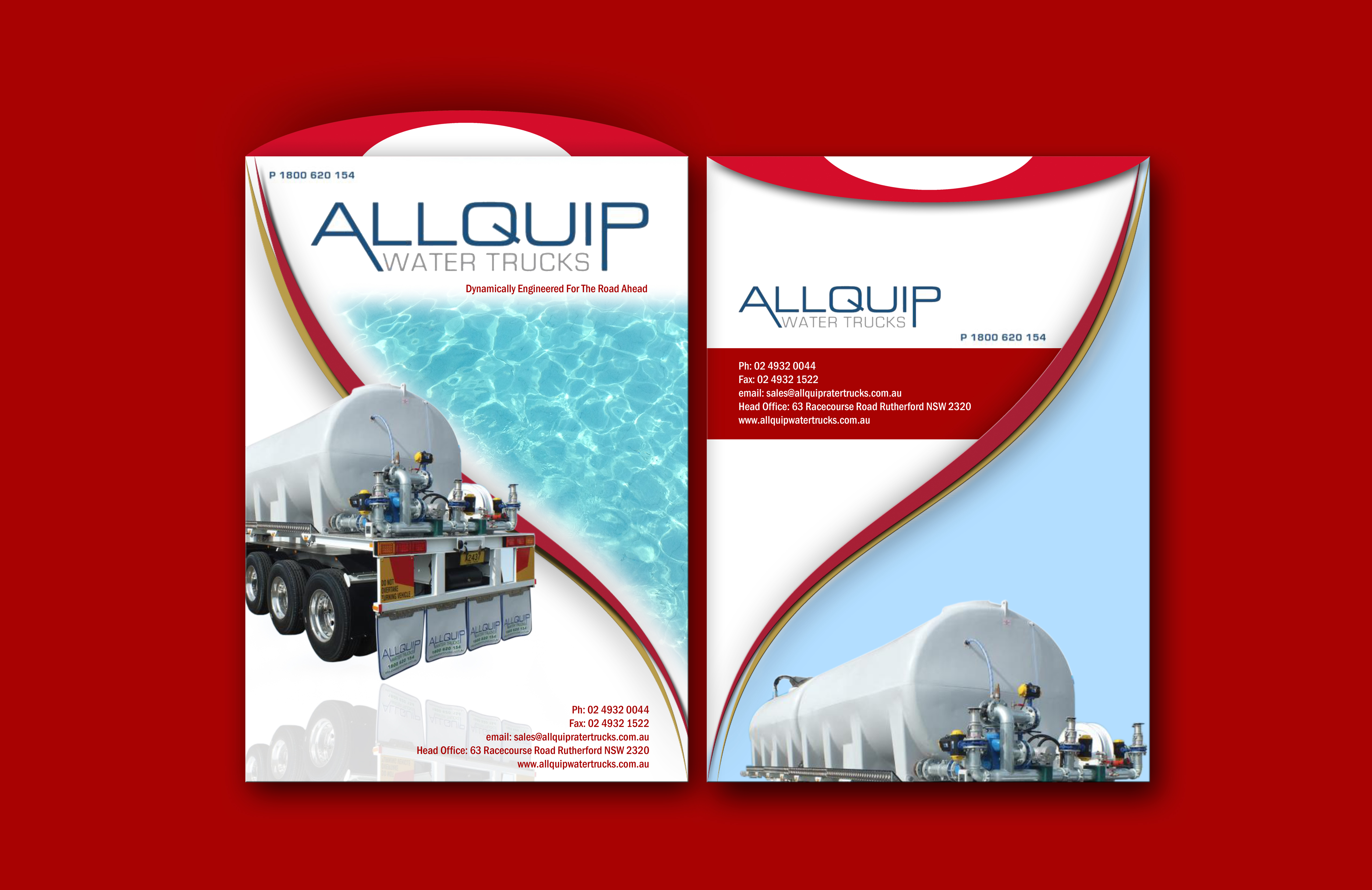 Custom Design by Joaquin Sampaio - Entry No. 2 in the Custom Design Contest New Custom Design for Allquip Water Trucks.