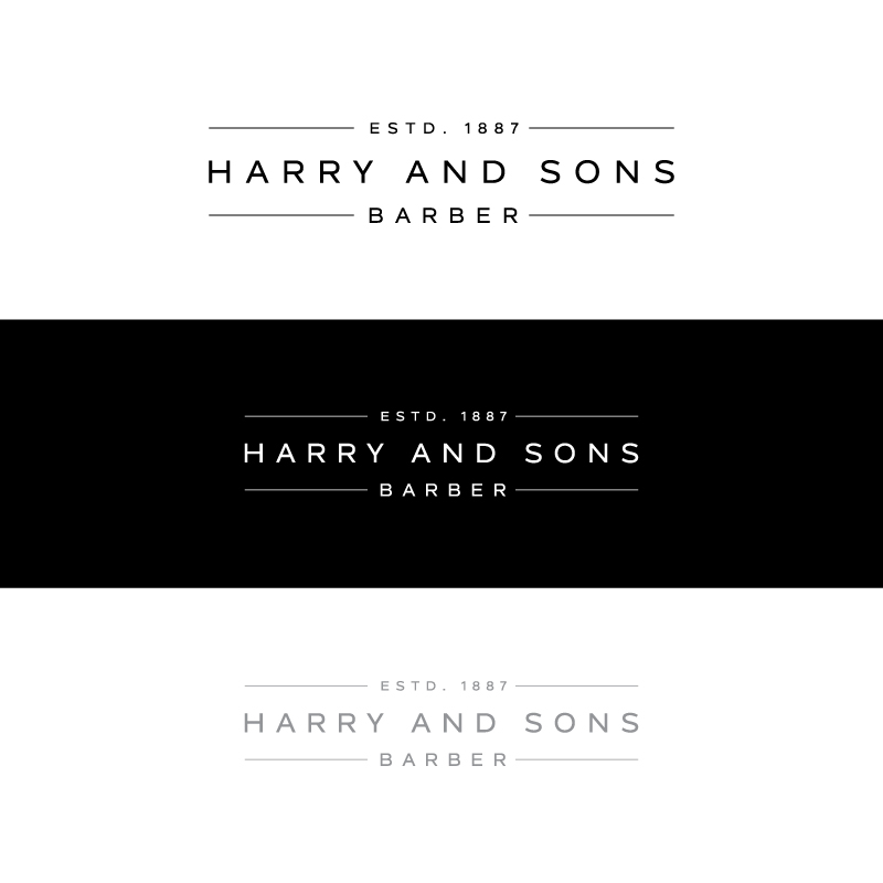 Logo Design by Tauhid Shaikh - Entry No. 210 in the Logo Design Contest Captivating Logo Design for Harry and Sons Barber.