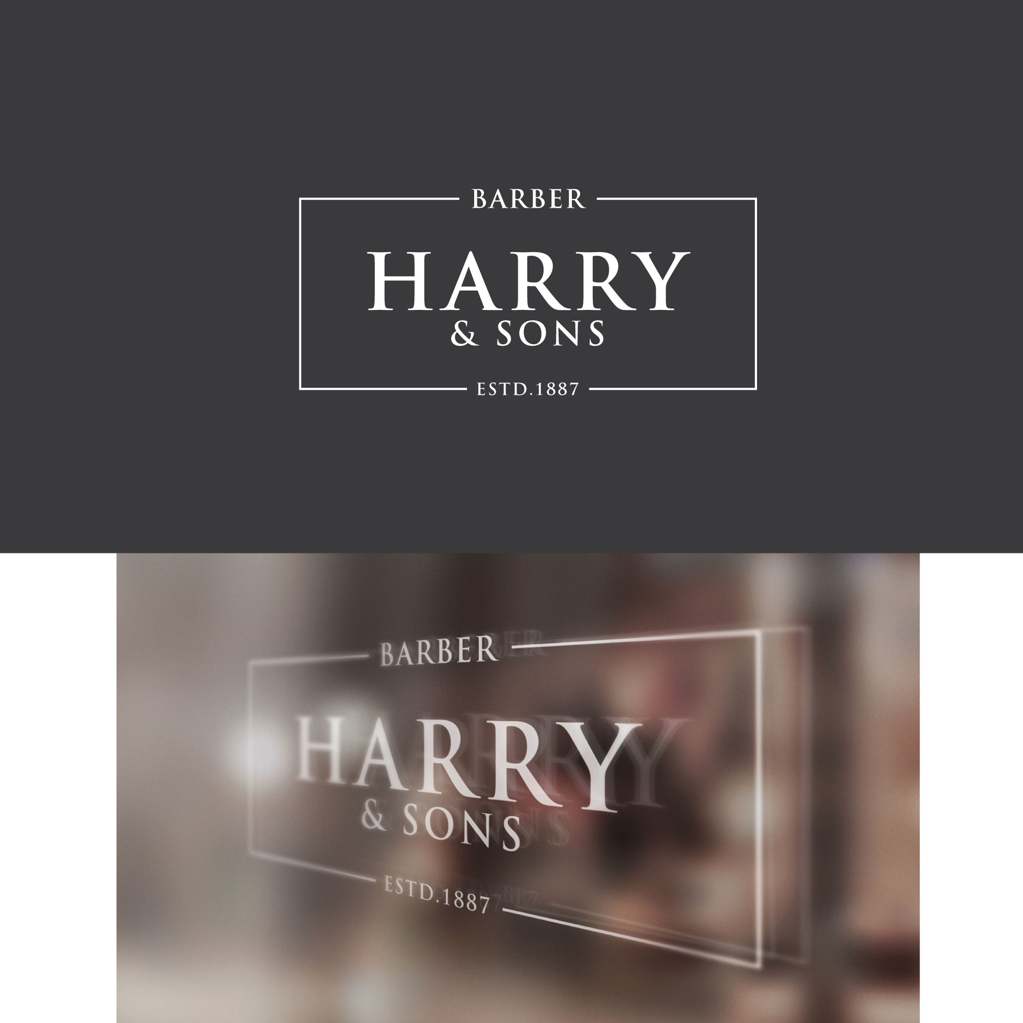 Logo Design by Roza Apostolska - Entry No. 212 in the Logo Design Contest Captivating Logo Design for Harry and Sons Barber.