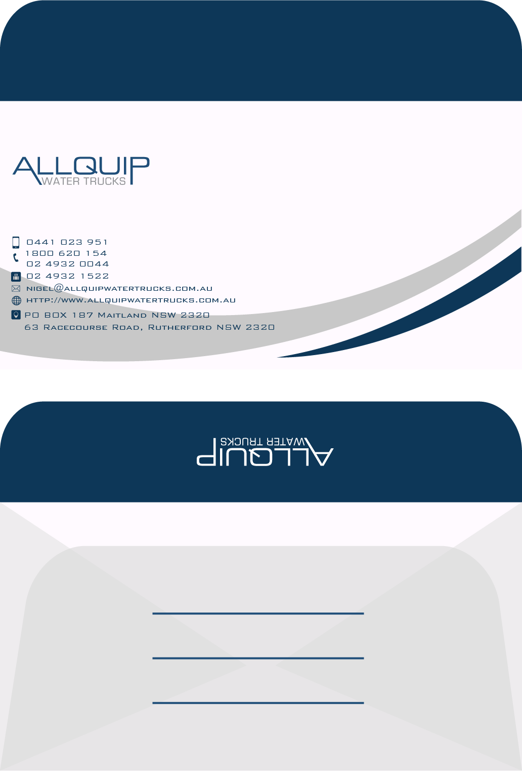 Custom Design by Private User - Entry No. 4 in the Custom Design Contest New Custom Design for Allquip Water Trucks.