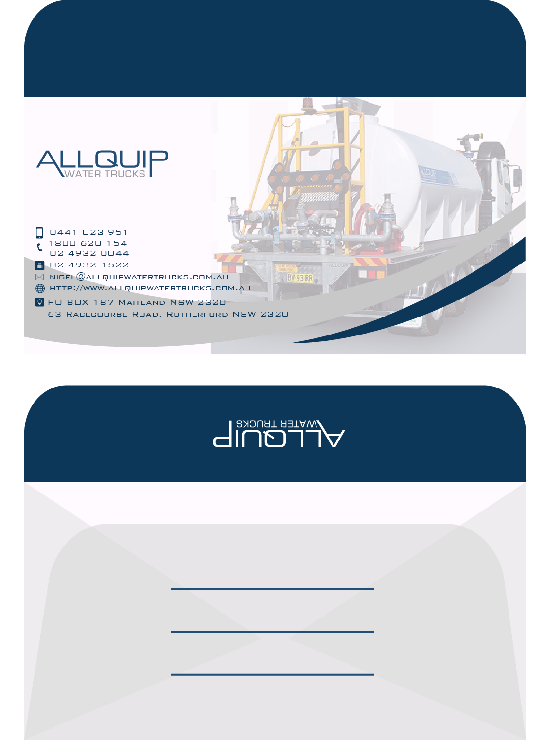 Custom Design by Private User - Entry No. 5 in the Custom Design Contest New Custom Design for Allquip Water Trucks.