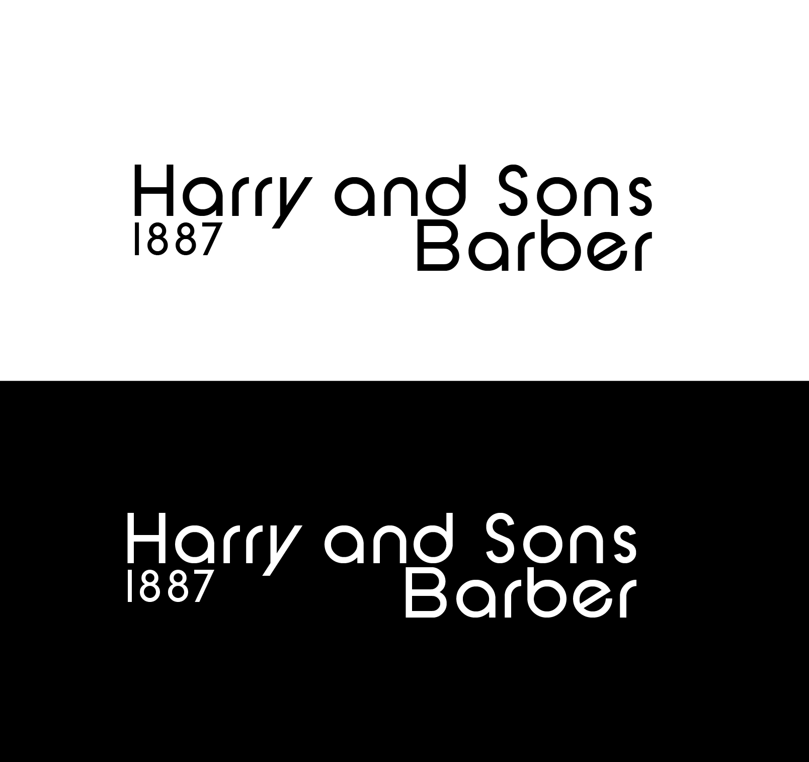 Logo Design by Ahtasham Ahmed - Entry No. 214 in the Logo Design Contest Captivating Logo Design for Harry and Sons Barber.