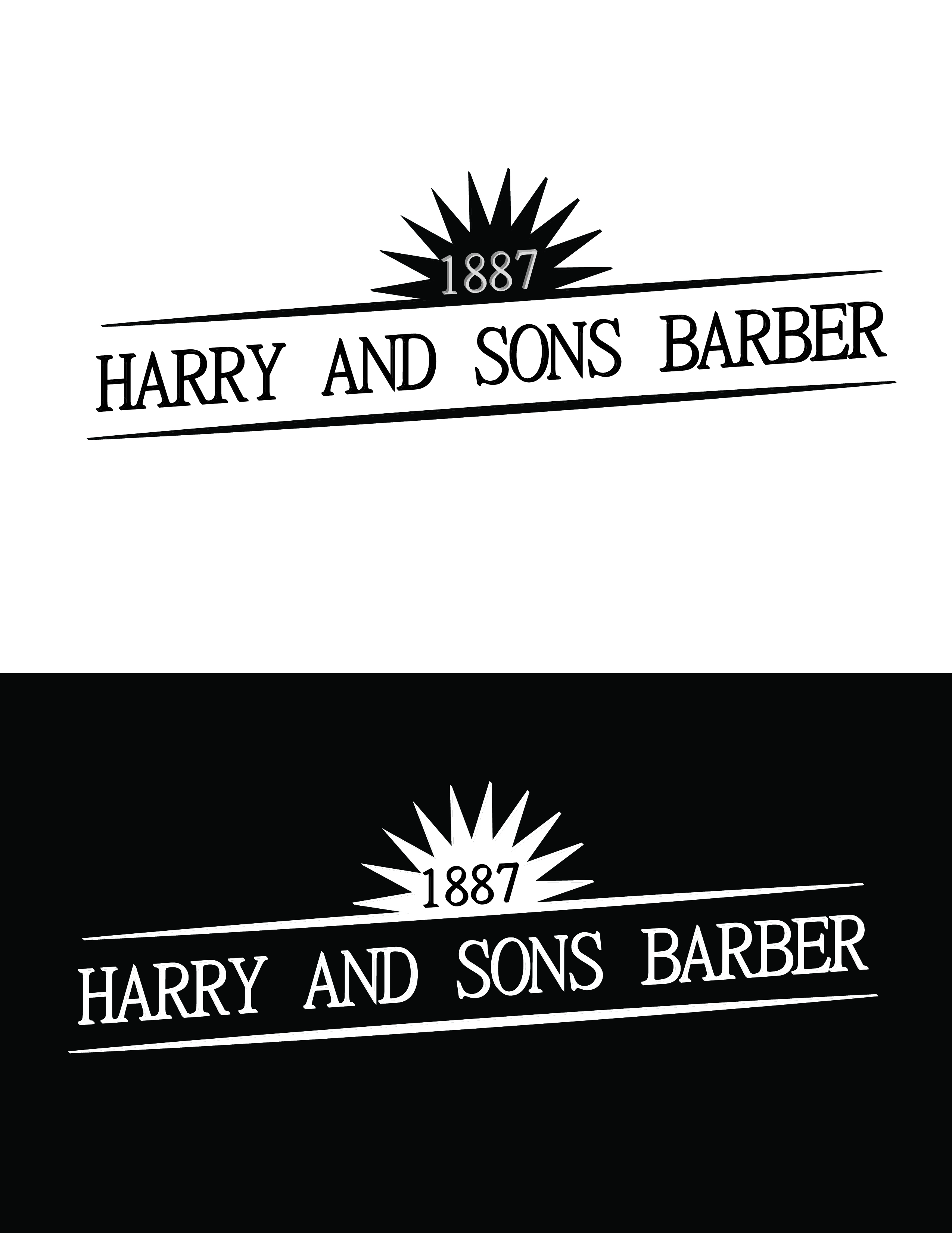 Logo Design by AQIB SHAIKH - Entry No. 216 in the Logo Design Contest Captivating Logo Design for Harry and Sons Barber.