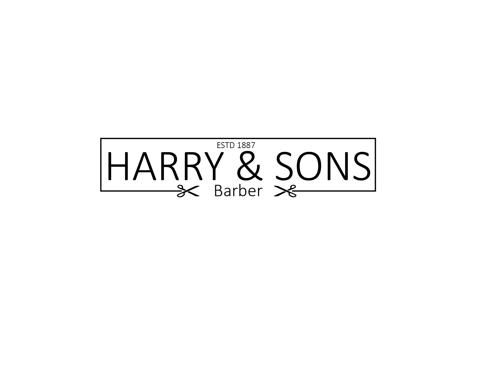 Logo Design by Private User - Entry No. 219 in the Logo Design Contest Captivating Logo Design for Harry and Sons Barber.