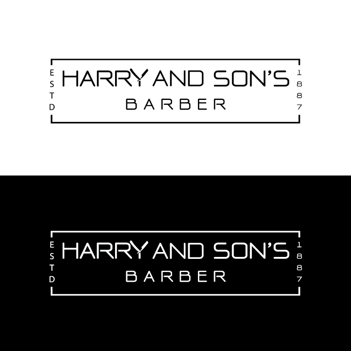 Logo Design by Private User - Entry No. 221 in the Logo Design Contest Captivating Logo Design for Harry and Sons Barber.