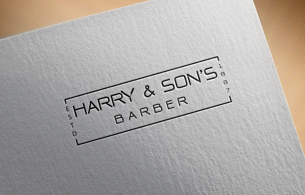 Logo Design by Private User - Entry No. 222 in the Logo Design Contest Captivating Logo Design for Harry and Sons Barber.