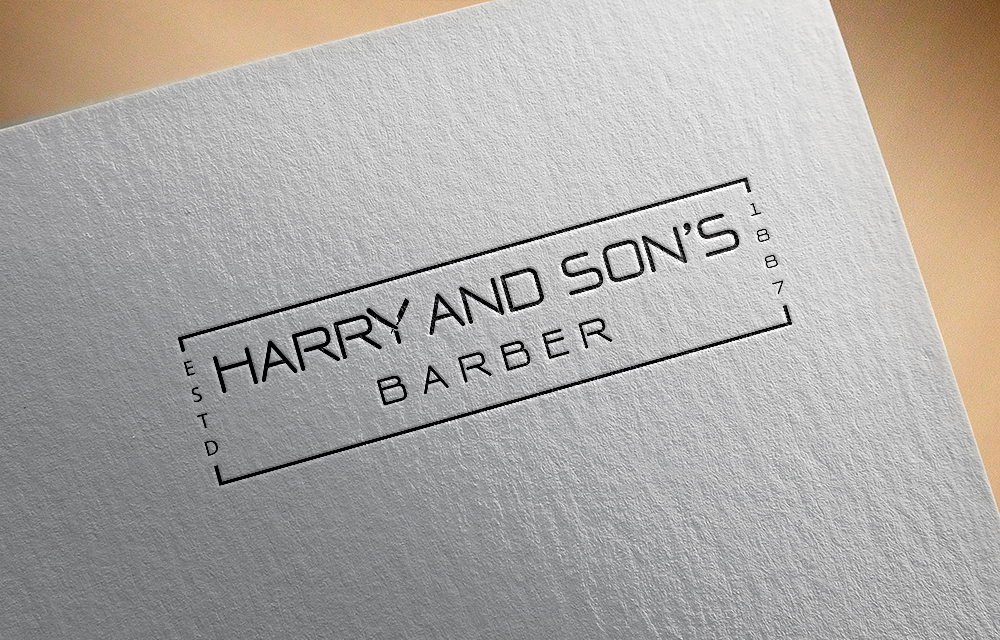 Logo Design by Private User - Entry No. 223 in the Logo Design Contest Captivating Logo Design for Harry and Sons Barber.