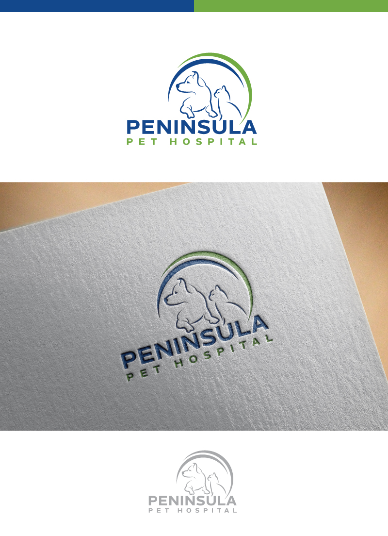 Logo Design by Tauhid Shaikh - Entry No. 4 in the Logo Design Contest Creative Logo Design for Peninsula Pet Hospital.