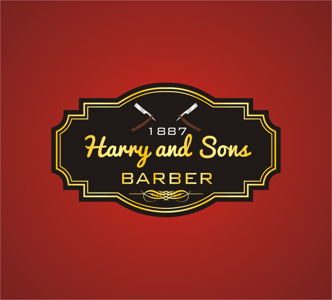 Logo Design by Karthick Flygraphics - Entry No. 227 in the Logo Design Contest Captivating Logo Design for Harry and Sons Barber.