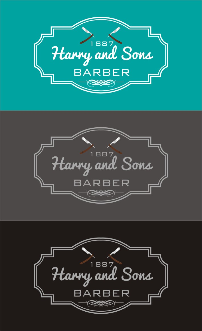 Logo Design by Karthick Flygraphics - Entry No. 228 in the Logo Design Contest Captivating Logo Design for Harry and Sons Barber.