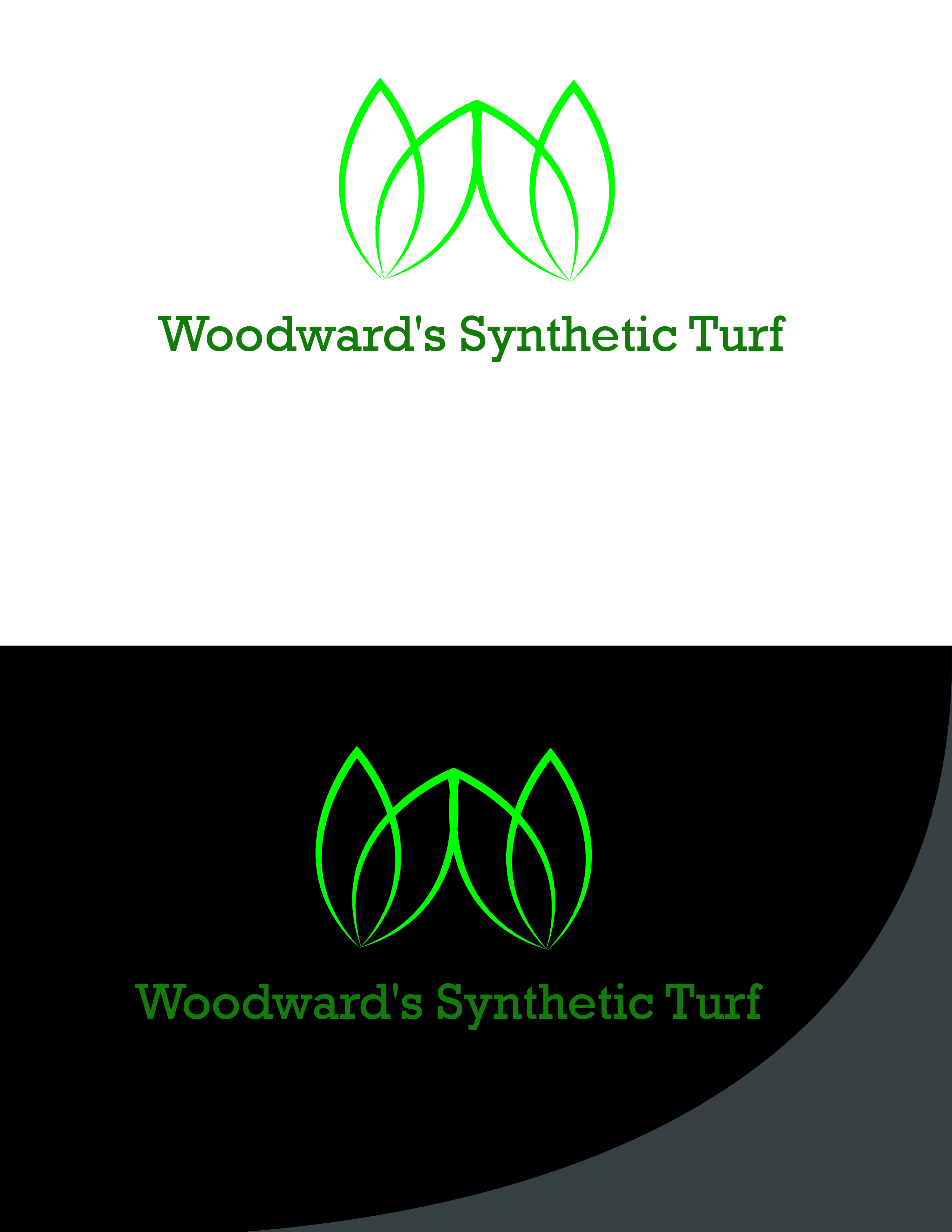 Logo Design by AQIB SHAIKH - Entry No. 14 in the Logo Design Contest Artistic Logo Design for Woodward's Synthetic Turf.