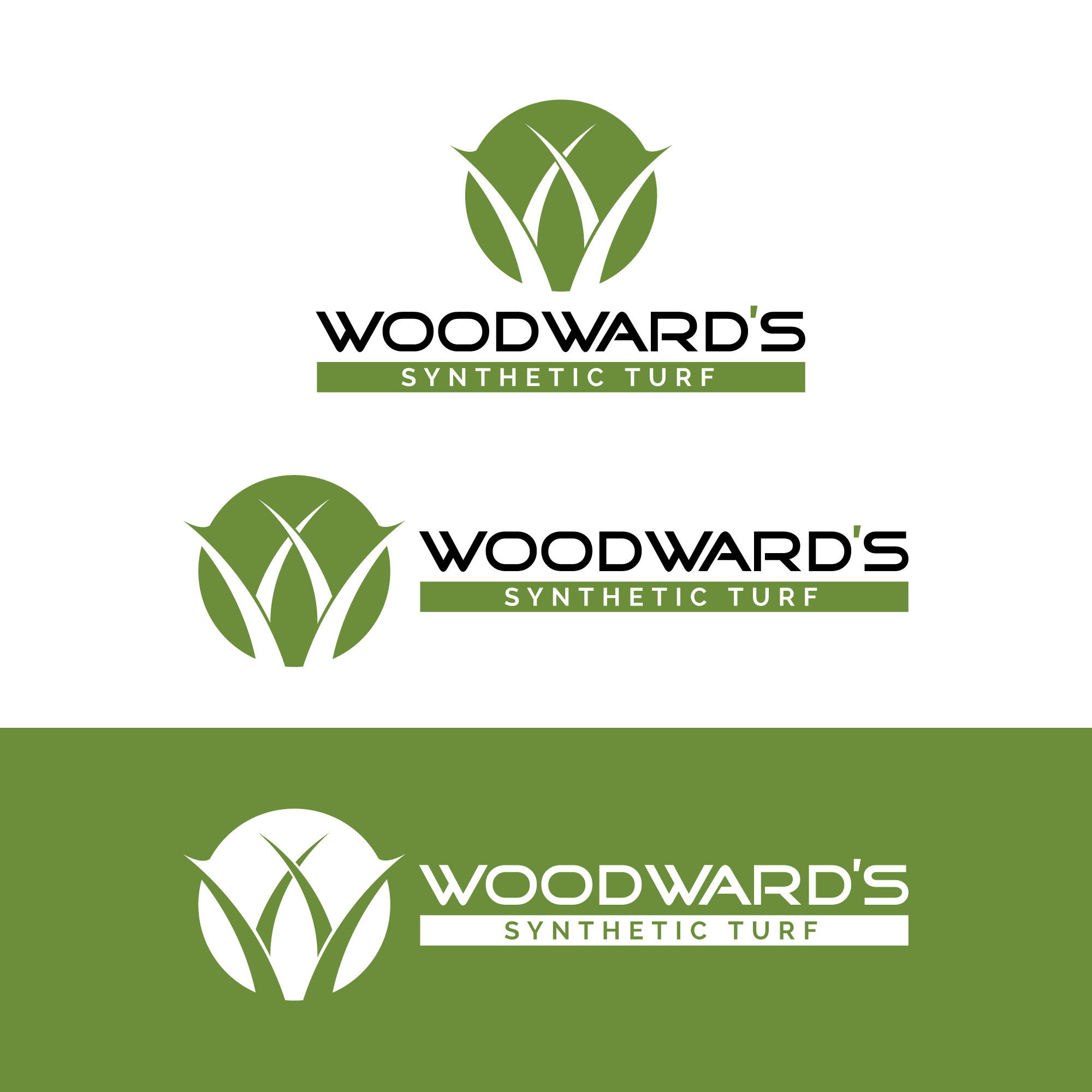 Logo Design by Roza Apostolska - Entry No. 16 in the Logo Design Contest Artistic Logo Design for Woodward's Synthetic Turf.