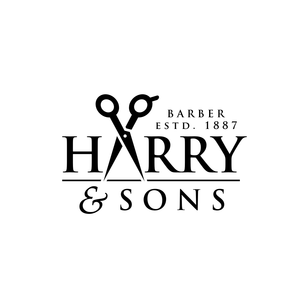 Logo Design by untung - Entry No. 232 in the Logo Design Contest Captivating Logo Design for Harry and Sons Barber.