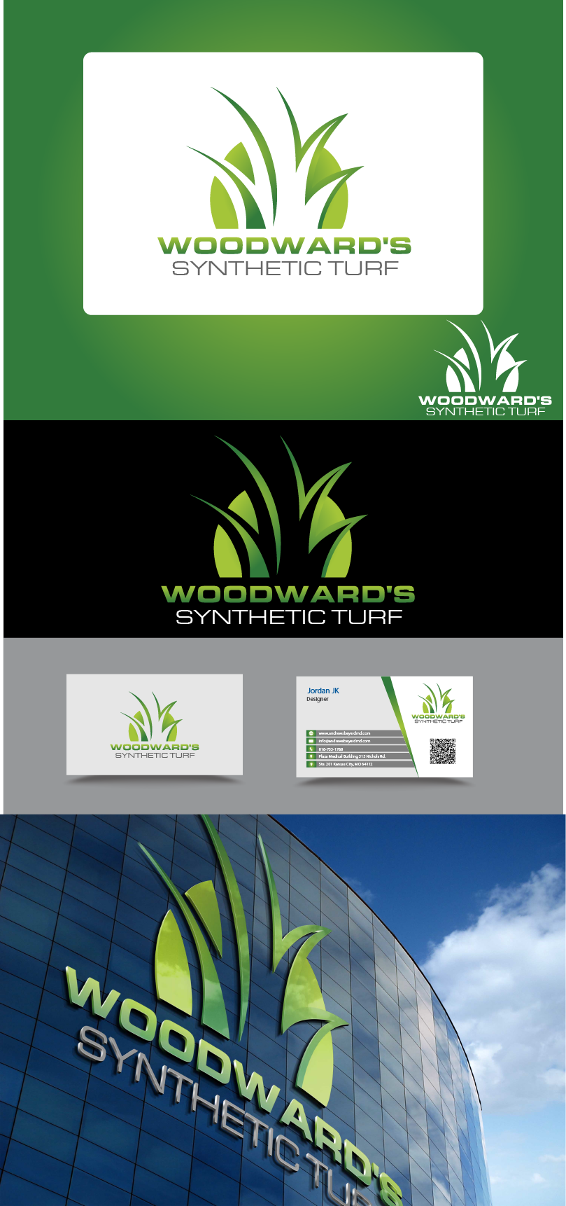 Logo Design by Private User - Entry No. 24 in the Logo Design Contest Artistic Logo Design for Woodward's Synthetic Turf.