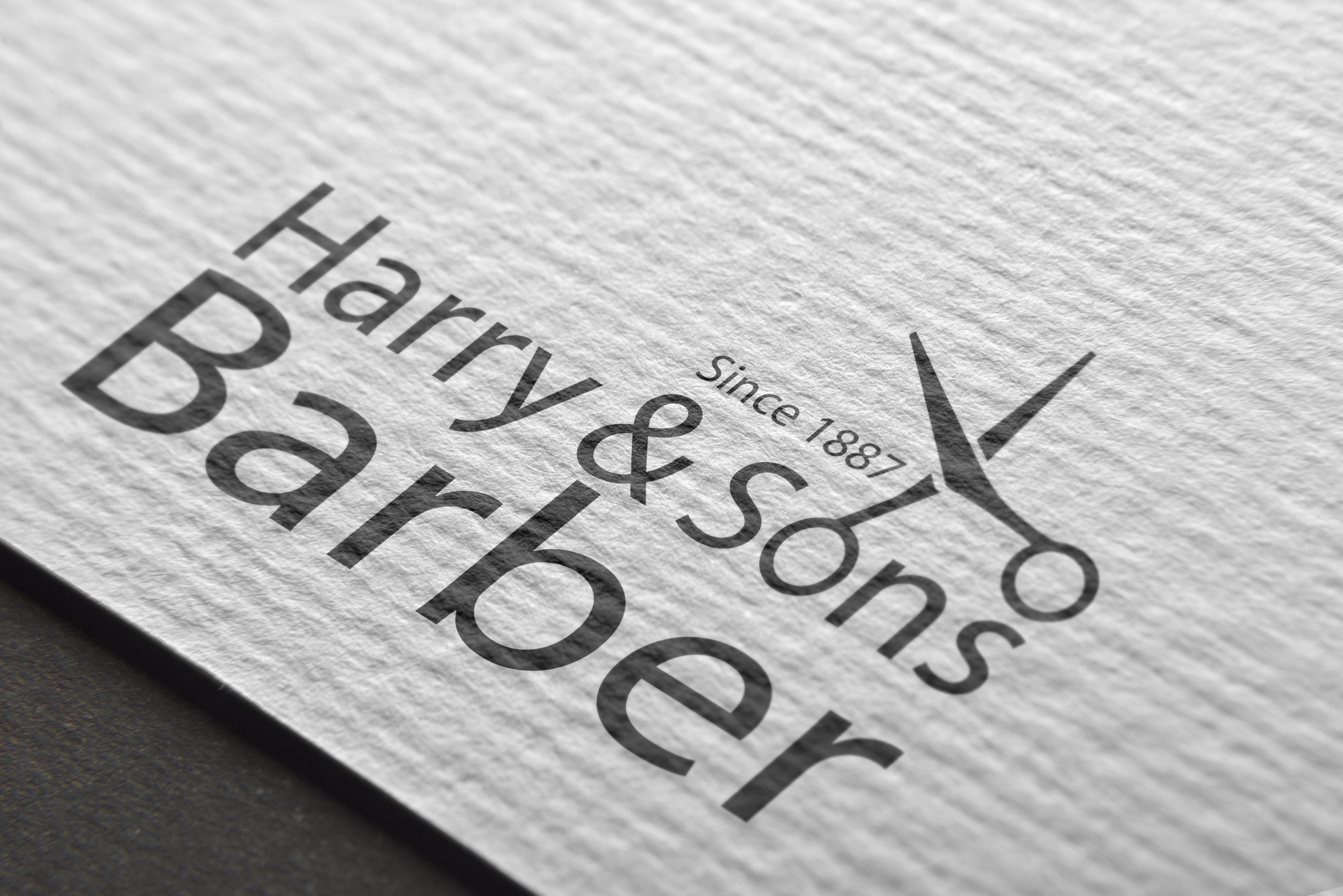 Logo Design by Moeed Khan - Entry No. 233 in the Logo Design Contest Captivating Logo Design for Harry and Sons Barber.