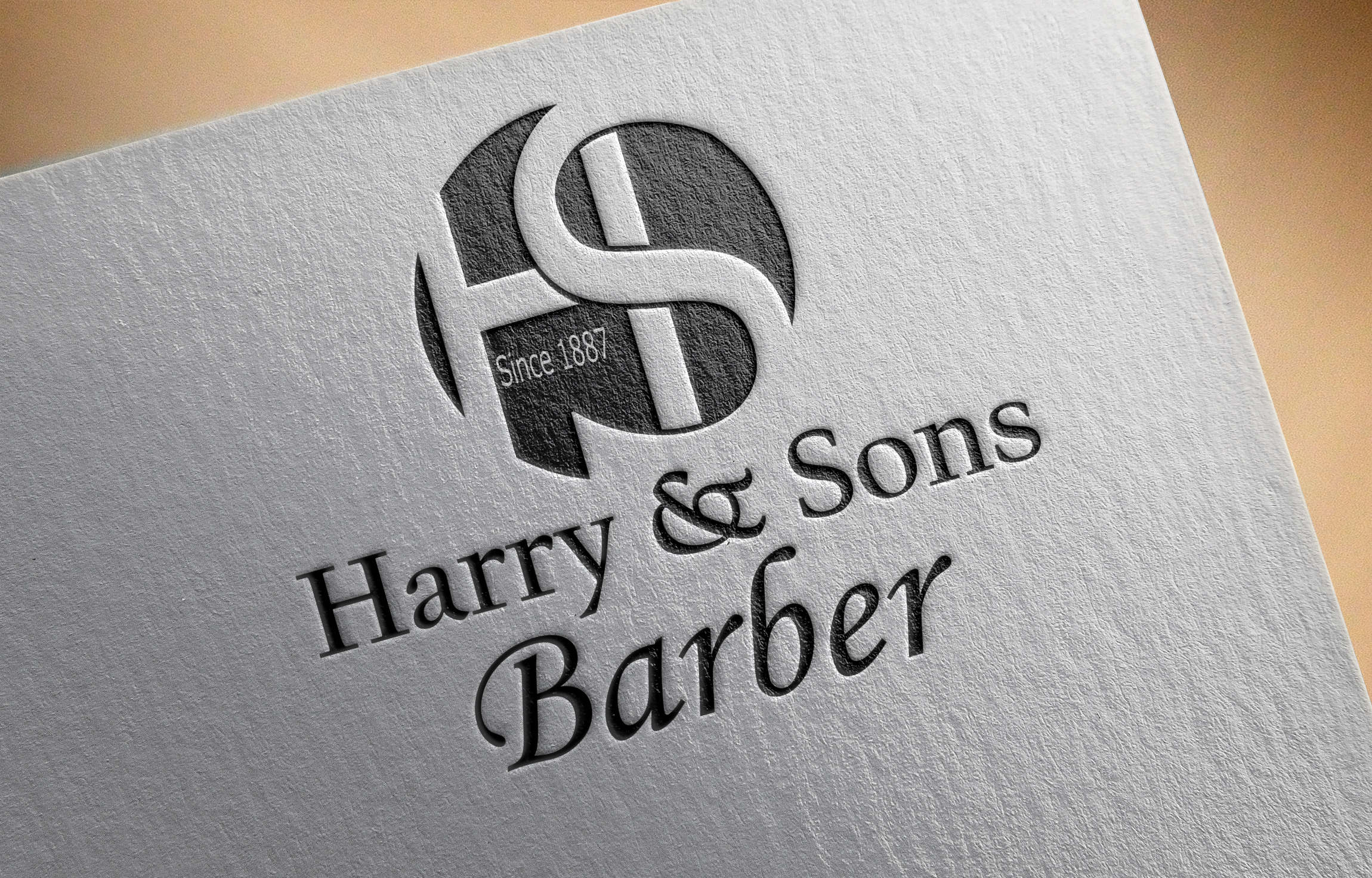 Logo Design by Moeed Khan - Entry No. 234 in the Logo Design Contest Captivating Logo Design for Harry and Sons Barber.