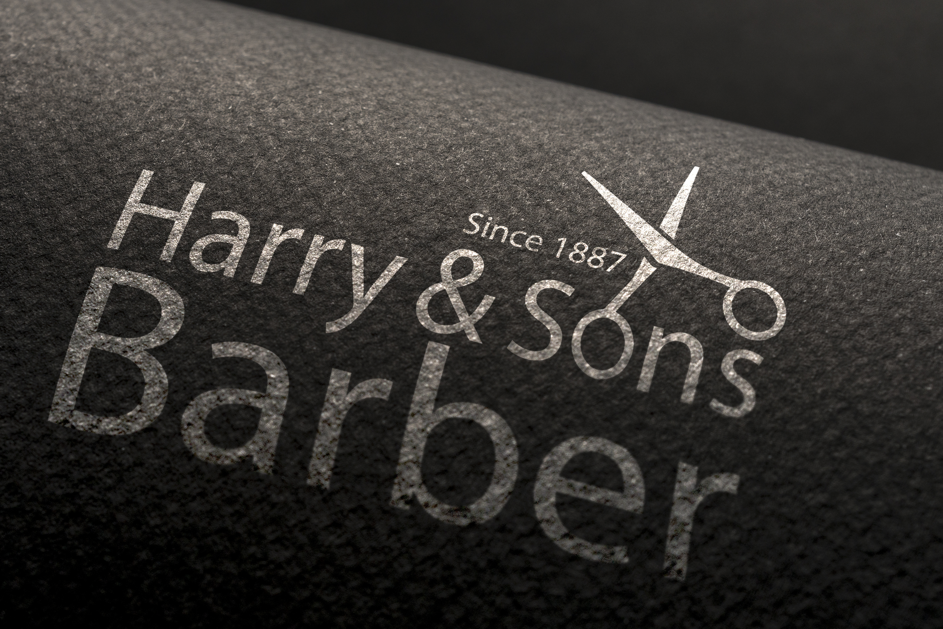 Logo Design by Moeed Khan - Entry No. 236 in the Logo Design Contest Captivating Logo Design for Harry and Sons Barber.