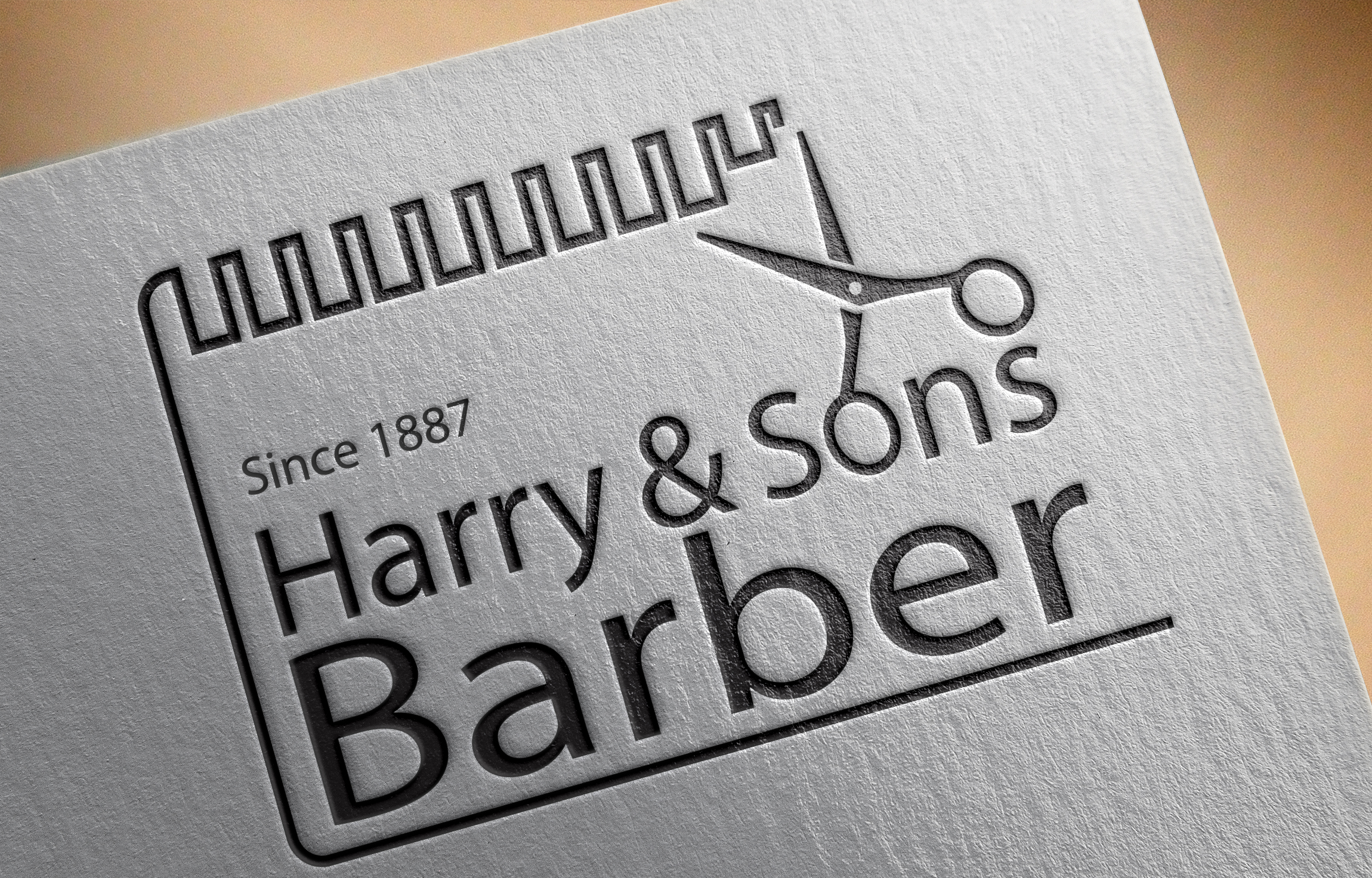 Logo Design by Moeed Khan - Entry No. 237 in the Logo Design Contest Captivating Logo Design for Harry and Sons Barber.