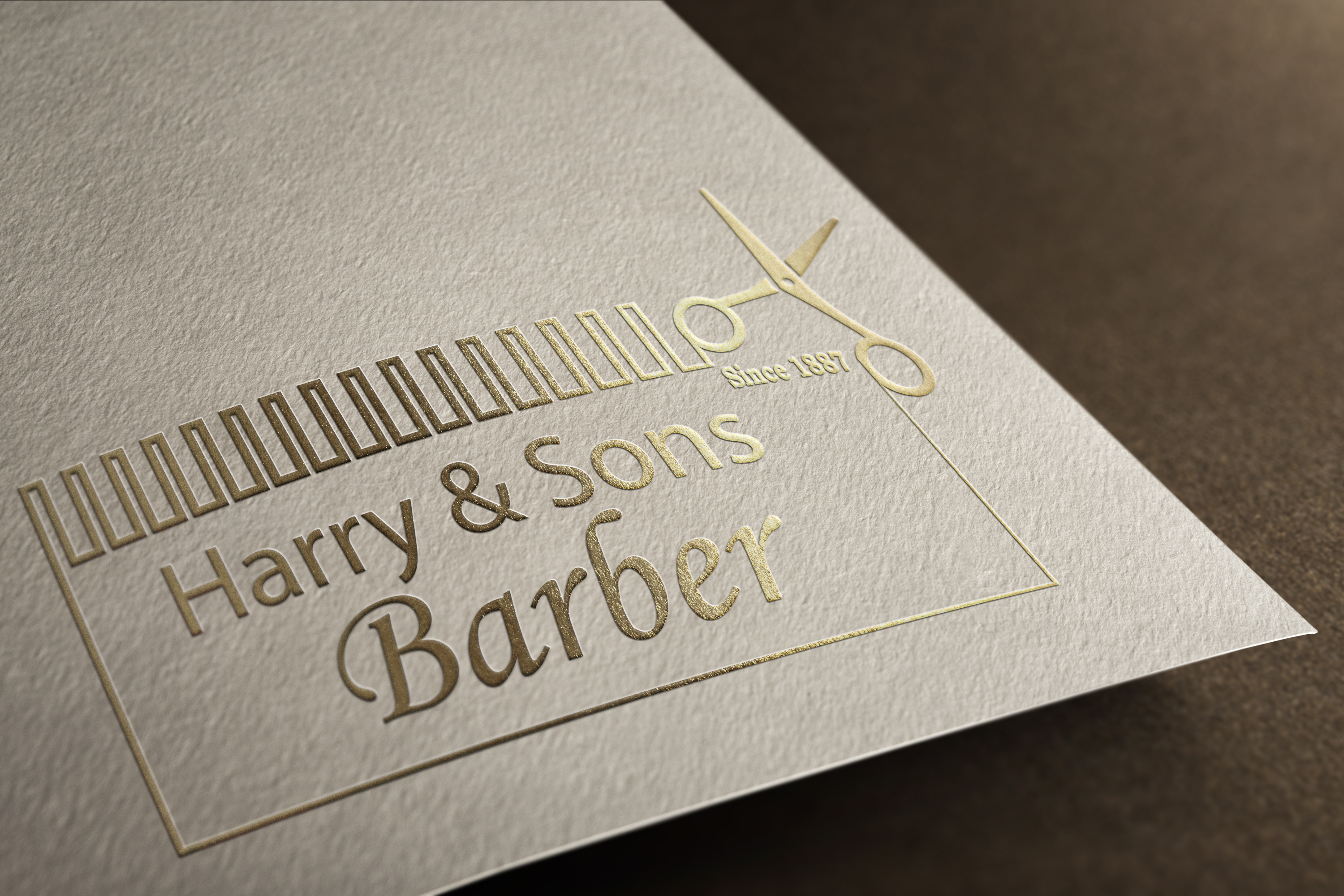 Logo Design by Moeed Khan - Entry No. 238 in the Logo Design Contest Captivating Logo Design for Harry and Sons Barber.