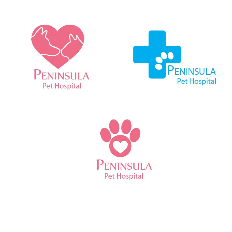 Logo Design by Muazzama Memon - Entry No. 26 in the Logo Design Contest Creative Logo Design for Peninsula Pet Hospital.