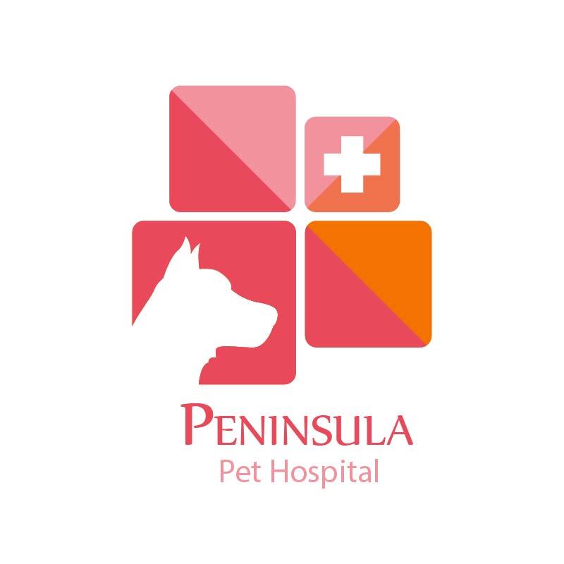 Logo Design by Muazzama Memon - Entry No. 32 in the Logo Design Contest Creative Logo Design for Peninsula Pet Hospital.