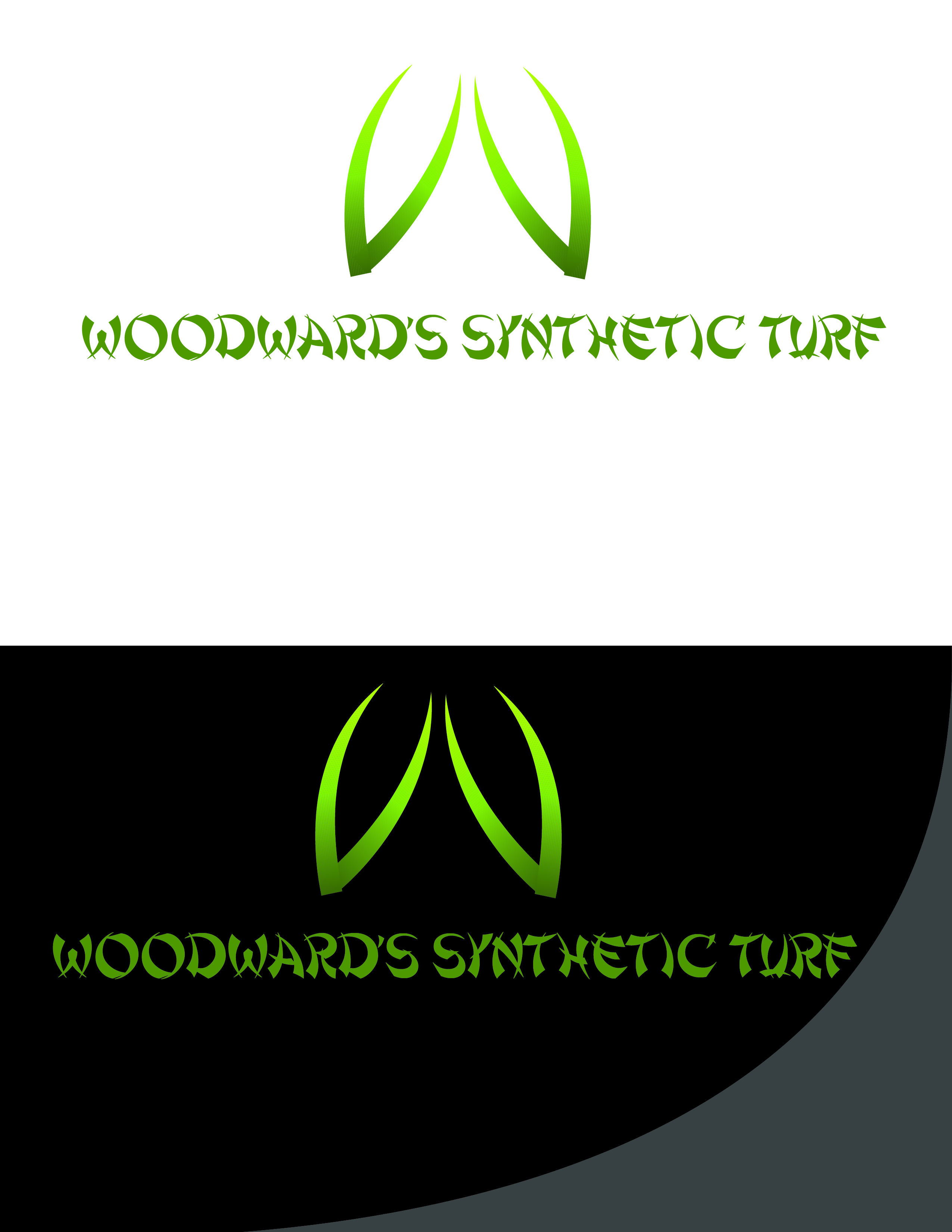 Logo Design by AQIB SHAIKH - Entry No. 30 in the Logo Design Contest Artistic Logo Design for Woodward's Synthetic Turf.