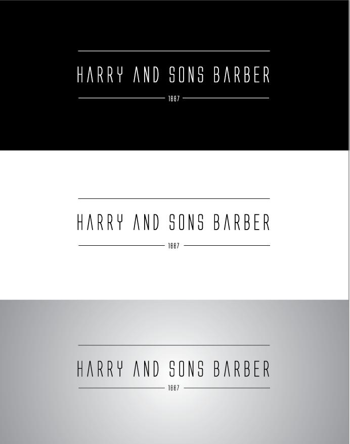 Logo Design by Sampath Gunathilaka - Entry No. 242 in the Logo Design Contest Captivating Logo Design for Harry and Sons Barber.